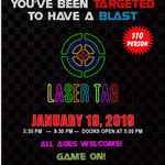 Bowie Community Center Laser Tag poster