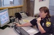 A department member answering an emergency call