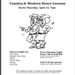 Dance Lesson Flyer